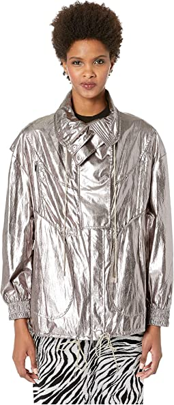 Metallic Foil Drawstring Jacket