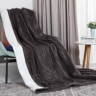 VICSAINTECK Elektrische deken verwarmde deken 130*180 cm, super zachte flanel elektrische overdeken met 6 warmte-instellin...