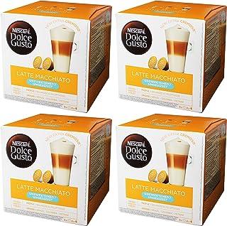 Nescafé Dolce Gusto Latte Macchiato Unsweetened, 4 Pakken, 4 x 16 Capsules (32 kopjes)