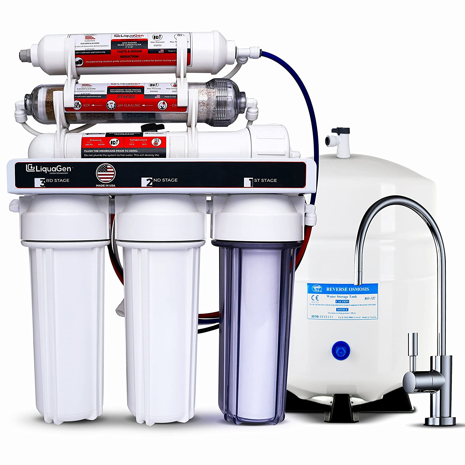 LiquaGen - Manufacturer direct delivery Residential Under Sink Os Reverse safety Water Drinking Home