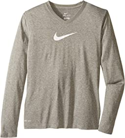 Nike Kids Leg V-Neck Swoosh™ L/S Tee (Little Kids/Big Kids)