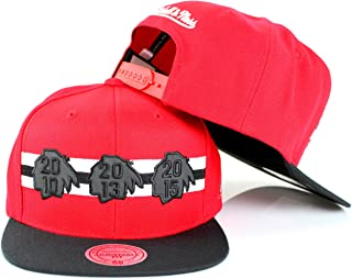 2fde541630a Chicago Blackhawks NHL Mitchell   Ness 2010 2013 2015 Stanley Cup Champions  Adjustable Snapback Hat