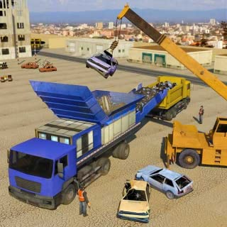 Old Car Junkyard Crusher Crane Operator: City Garbage Truck Simulator Games 2019 FREE for Kids