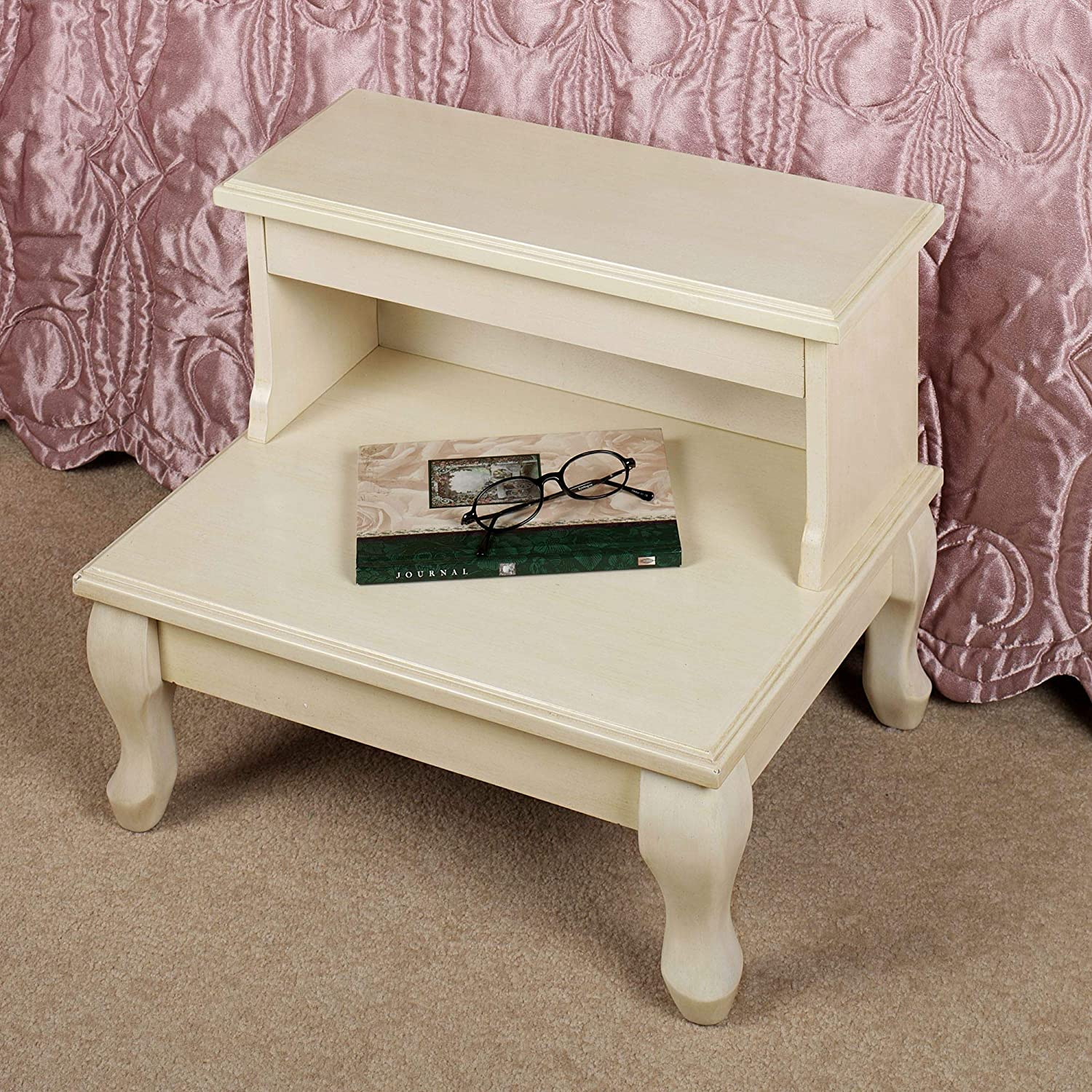 Cessilee Wooden Bed Portland Mall Steps with Max 64% OFF Storage Whitewas - High 16 Inches