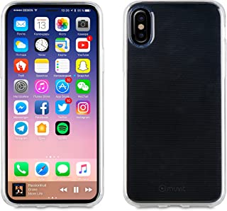 1e0647ac879 Muvit Crystal Soft Lite - Carcasa Trasera para iPhone X, Transparente