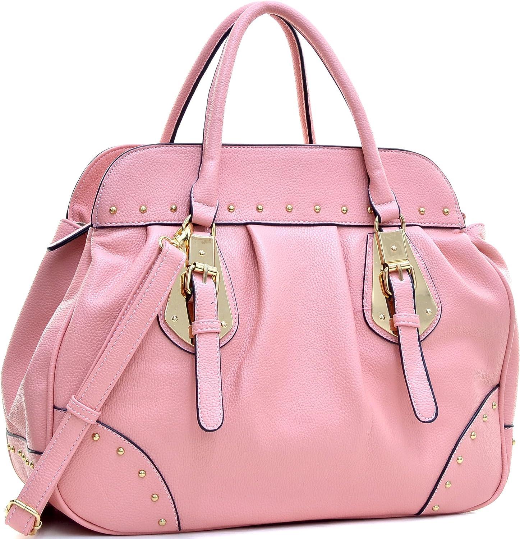 Dasein Women Large Handbag Top Handle Shoulder Bag Studded Satchel Designer Purse