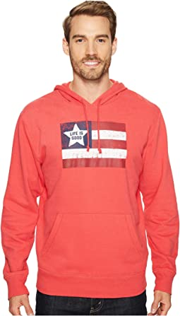 Life is Good - Flag Go-To Hoodie