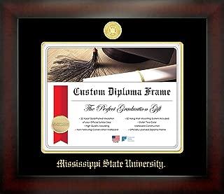 Celebration Frames Mississippi State University 8½ x 11 Mahogany Finish Infinity Diploma Frame