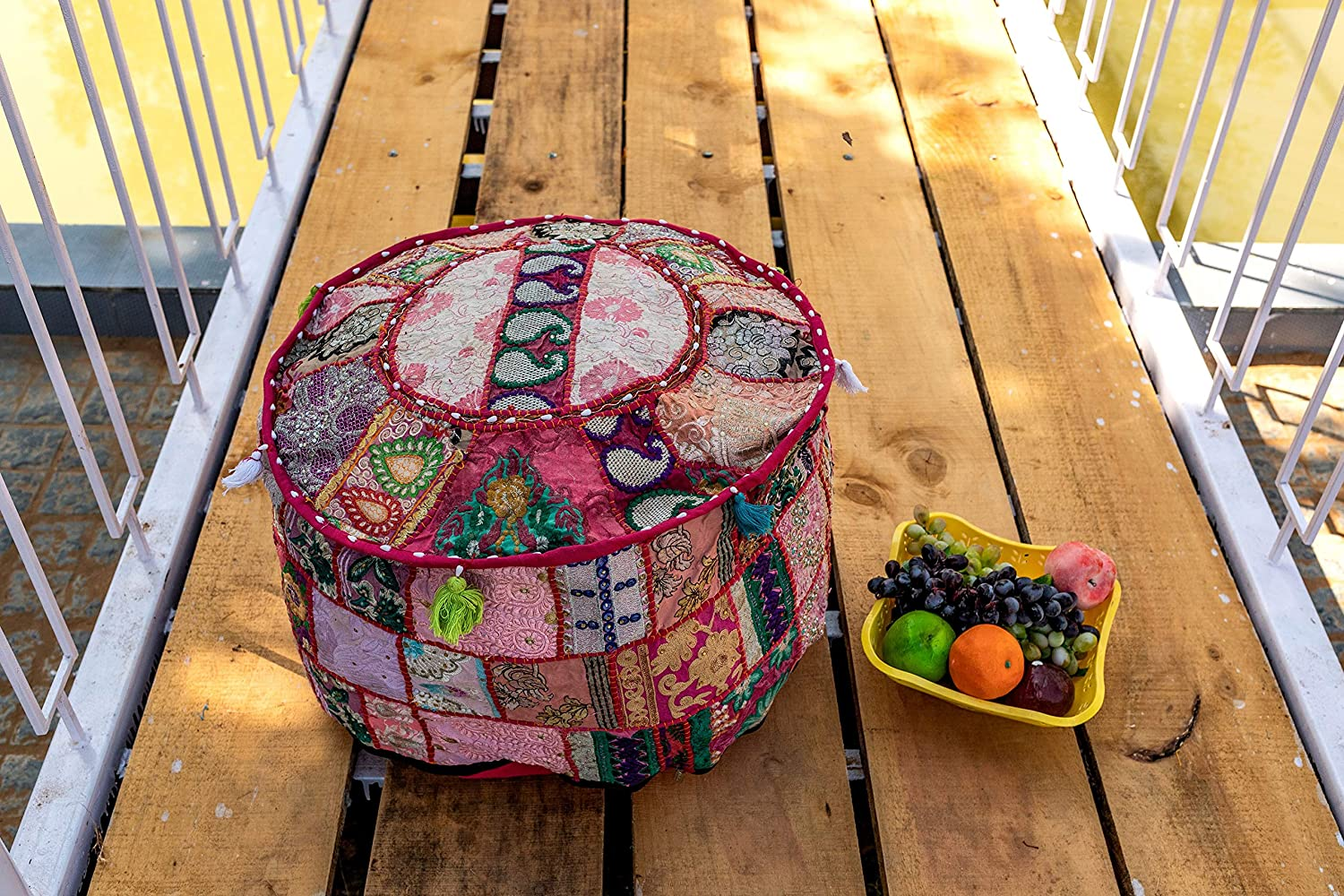 THE ART BOX Cotton Patchwork Vintage Albuquerque Mall Boho Bean S Over item handling ☆ Embroidered Bag