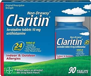 Claritin Indoor/Outdoor 24 Hour Non Drowsy Allergy, 90 Count