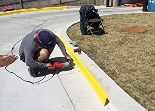 USSC Products CurbHuggers - Protect Wheels, Tires and curbs Against costly Damage. 10ft. Sections Attach Directly to New or existing Concrete curbs. (Yellow)