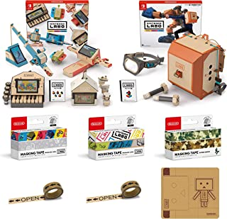 Nintendo Labo (ニンテンドー ラボ) Toy-Con 01: Variety Kit - Switch + Toy-Con 02: Robot Kit - Switch + マスキングテープ3種(Nintendo Labo(アイコン/ピクト)・(ステンシルロゴ/Toy-Con)・スーパーマリオ(カモフラージュ)) (【Amazon.co.jp限定】オリジナルマスキングテープ2個+専用おまけパーツセット 同梱)