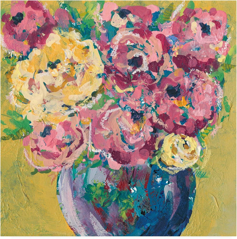 Trademark Fine Art Chaos Floral V by Regina Moore, 14x14