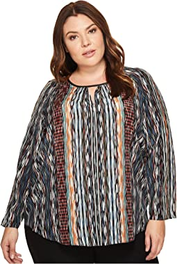 3b60f6f8dd0 Plus Size Color Streaks Keyhole Top. Like 4. NIC+ZOE