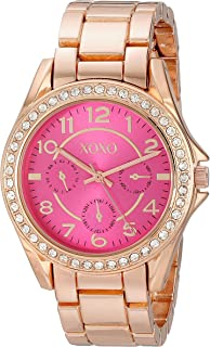 XOXO Womens Quartz Watch, Analog Display and Gold Plated Strap XO177