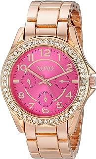 XOXO Womens Quartz Watch, Analog Display and Gold Plated Strap XO177