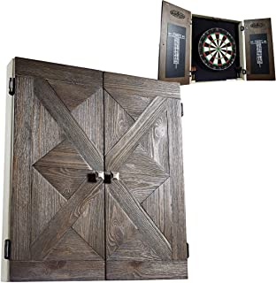 Barrington Collection Bristle Dartboard Cabinet Set: Professional Hanging Classic Sisal Dartboard with Self Healing Bristles and Accessories - Available in Multiple Styles