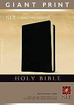 Holy Bible, Giant Print NLT (Red Letter, Imitation Leather, Black)