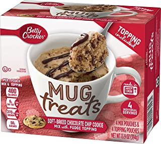 Betty Crocker Baking Mug Treats Soft-baked Chocolate Chip Cookie Mix with Fudge Topping