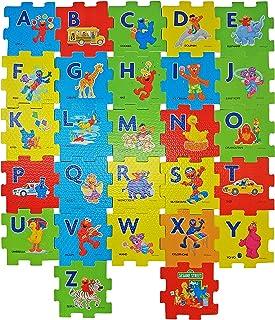 Sesame Street Alphabet Foam Floor Puzzle, Plus Free Bonus 1 Sesame Street Stickers and Flash