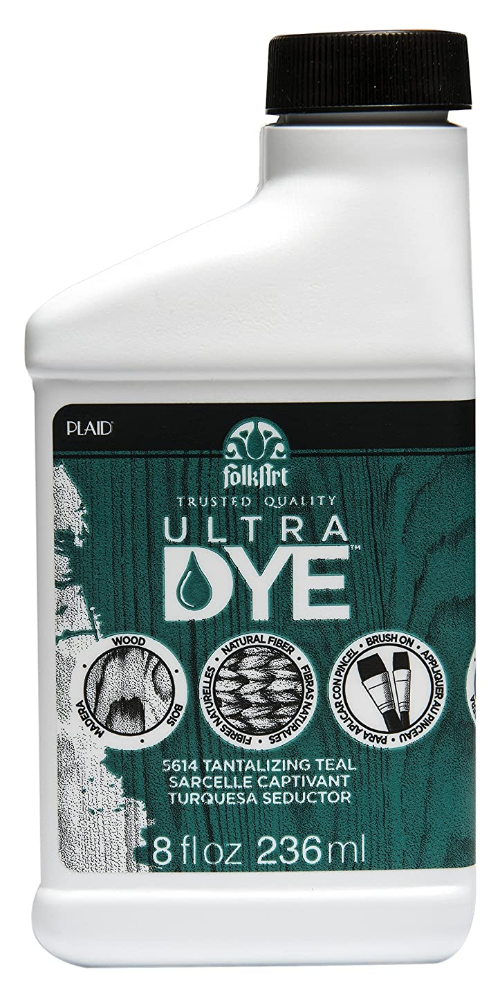 FolkArt Ultra Dye in Assorted Colors (8 Ounce), 5614 Tantalizing Teal