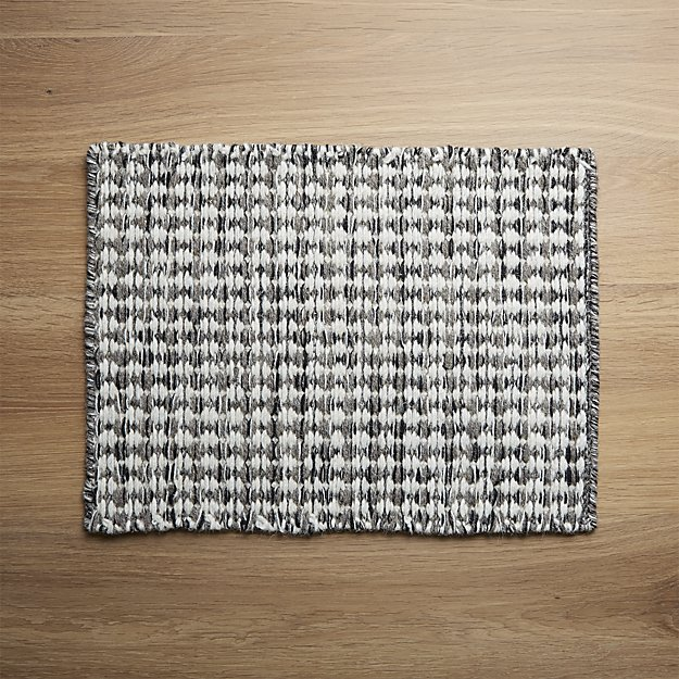 Canton Wool Placemat | Crate and Barrel