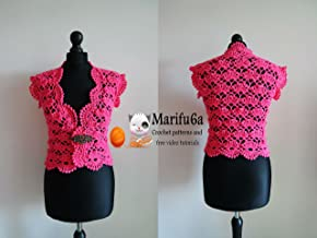 crochet shell bolero shrug pattern by marifu6a