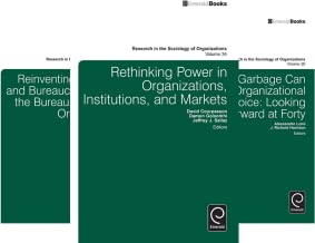 Research in the Sociology of Organizations (36 Book Series)