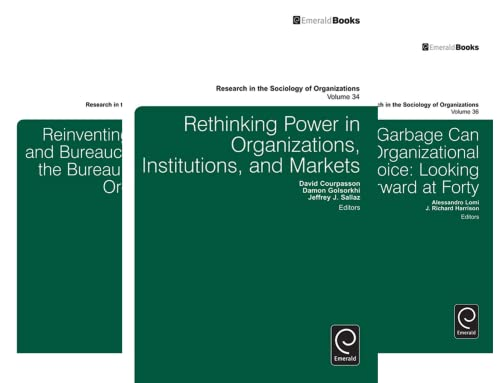 Research in the Sociology of Organizations (38 Book Series)