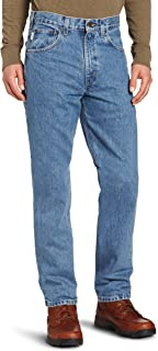 Men's B18 Denim Straight Fit Jean - 48W x 32L - Stonewash