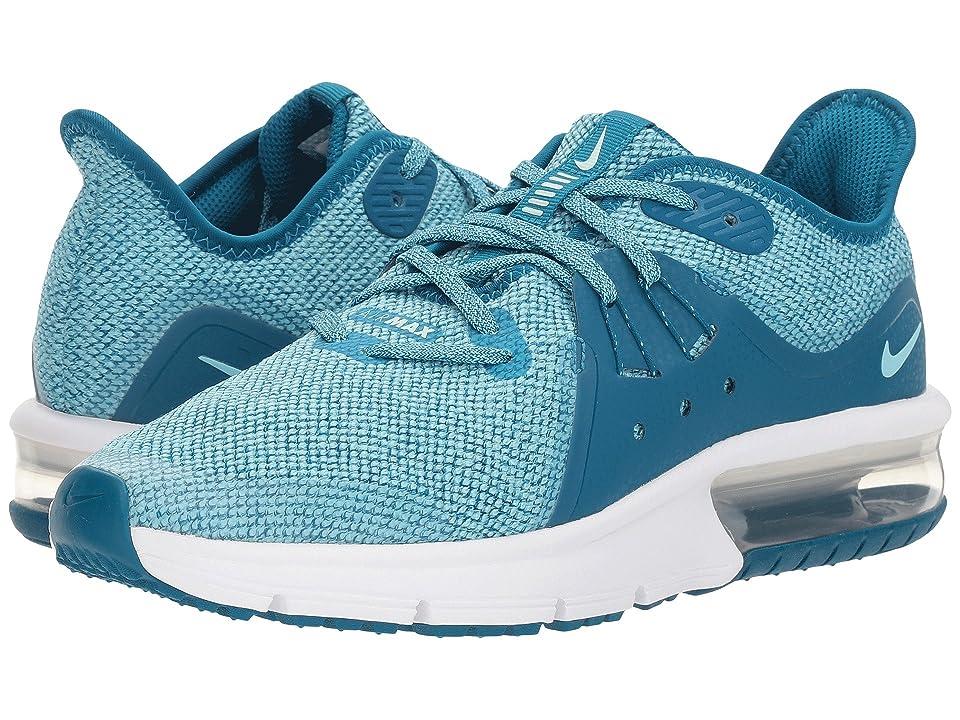 Nike Kids Air Max Sequent 3 (Big Kid) (Green Abyss/Igloo/Bleached Aqua/White) Girls Shoes