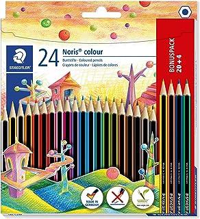 STAEDTLER 185 C24P Noris colour colouring pencils in assorted colours, pack of 20 plus 4 FREE pencils