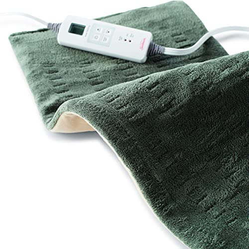 discount Sunbeam, Heating Pad new arrival for Fast Pain Relief XLarge King XpressHeat 6 Heat Settings with Auto-Shutoff 12 x 24 Inch sale XLarge, Green online sale