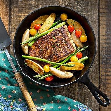 Simple Chef Cast Iron Skillet 3-Piece Set - Best Heavy-Duty Professional Restaurant Chef Quality Pre-Seasoned Pan Cookware Se