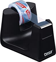 Tesa Easy Cut Smart Tafelplakbanddispenser – compacte tafeldispenser met anti-slip stoptechnologie – 1 rol transparant Tes...