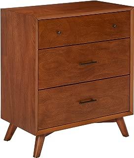 Alpine Furniture Flynn Mid Century Modern Small Chest, 35