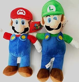 Super Mario Luigi Brothers Soft Plush Doll Set 12