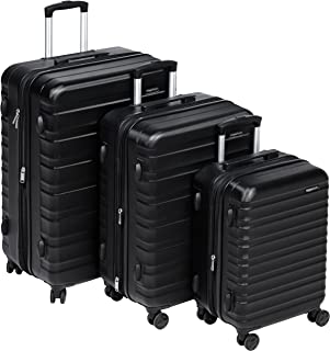 "AmazonBasics Hardside Spinner Luggage - 3 Piece Set (20"", 24"", 28"")"