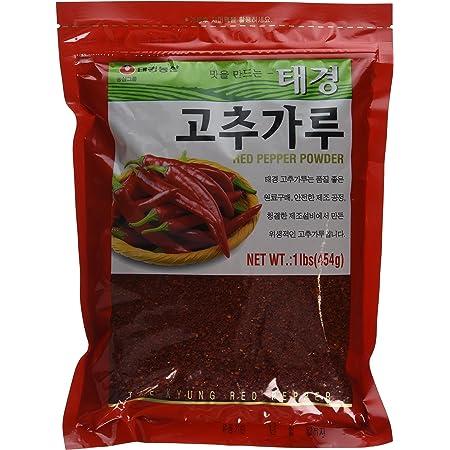 Amazon Com Tae Kyung Korean Red Chili Pepper Flakes Powder Gochugaru 1 Lb Gourmet Food Grocery Gourmet Food