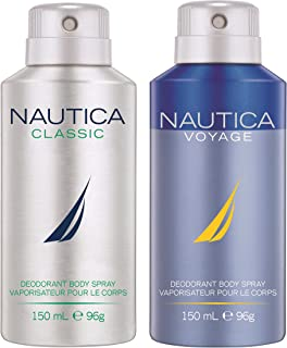 Nautica Deo Combo Set, Classic, Voyage, 150ml (Pack of 2)
