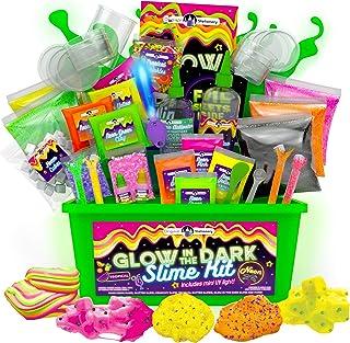 Original Stationery Slime para Niños Fabrica de Slime Neon Tropical Glitter Glow in The Dark Slime Kit Prepara Crunchy Sli...