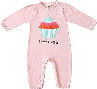 Cigogne BeBe Babies' 100% Cotton Cupcake Romper 0-3 Months Pink
