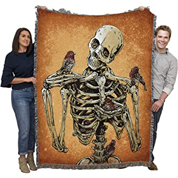 Birds Of A Feather David Lozeau Blanket Throw Woven From Cotton Made In The Usa 72x54 Kitchen Dining