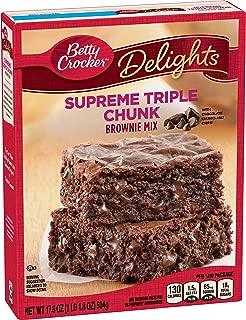 Betty Crocker Delights, Supreme Triple Chunk Brownie Mix, 17.8 oz