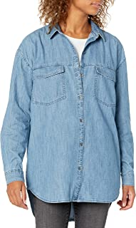 Marchio Amazon - Goodthreads - Denim Oversize Two-pocket Shirt, athletic-shirts Donna