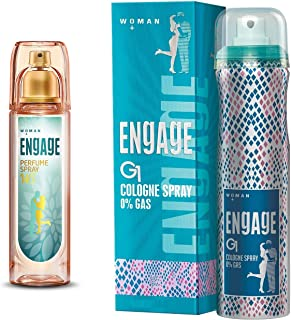 Engage W3 Perfume Spray For Women, 120ml and Engage G1 Cologne Spray For Women, 135ml