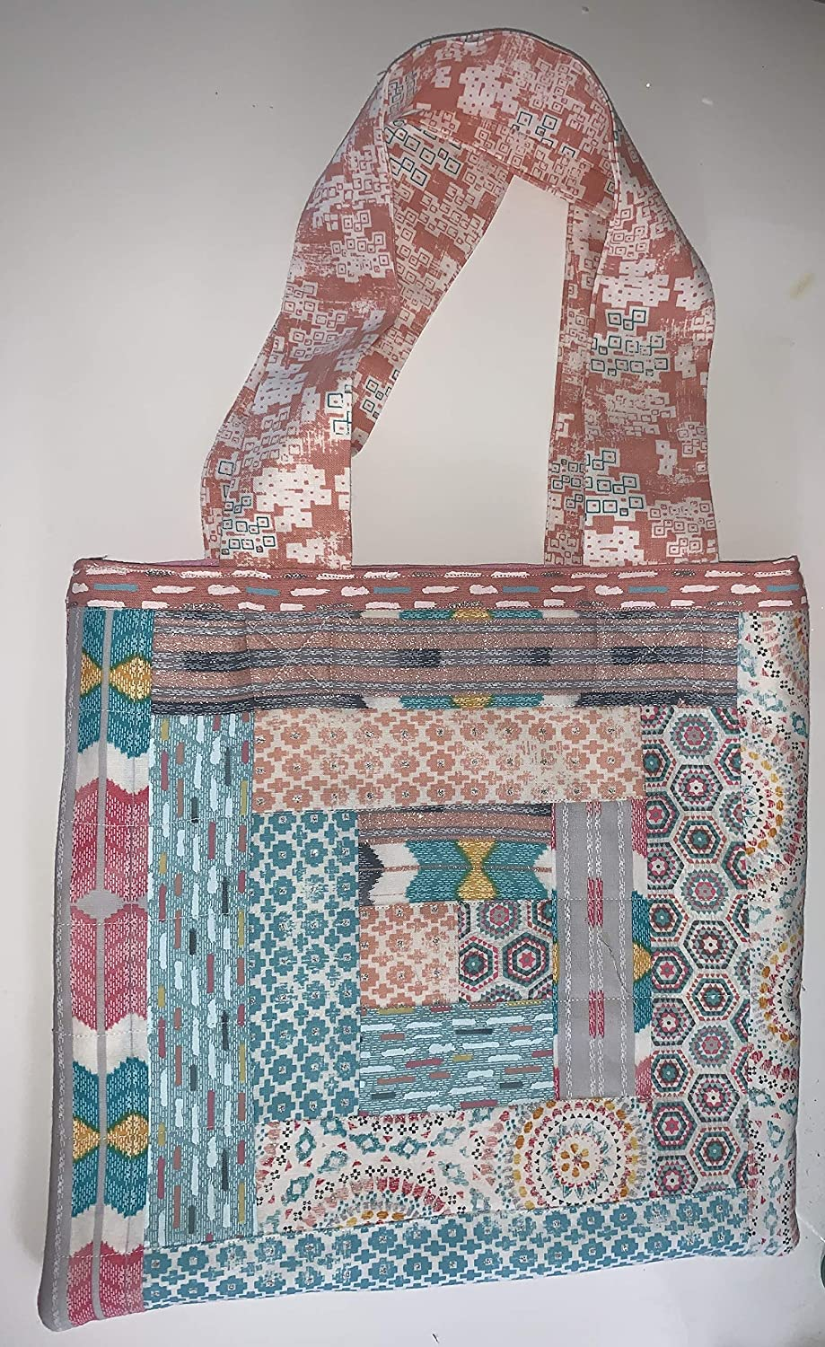 online shopping Quilted Over item handling tote bag