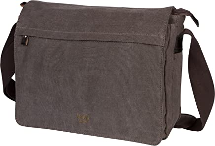 befb9f7b41 Troop London Canvas Messenger Bag Fits Up To 15 Inch Laptop Size Medium  TRP0240 (3