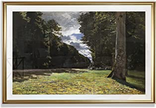 Monet Wall Art Collection The The Road of Chailly in The Fontainbleau Forest, 1865 Fine Giclee Prints Wall Art in Premium Quality Framed Ready to Hang 20X28, Gold