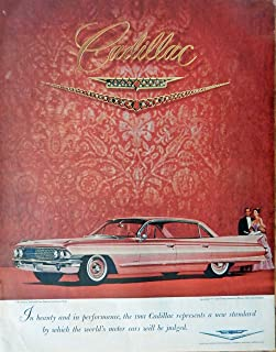 1961 Cadillac, 60's Print ad. Full page Color Illustration (jeweled